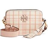 Tory Burch McGraw Plaid Leather Camera Bag