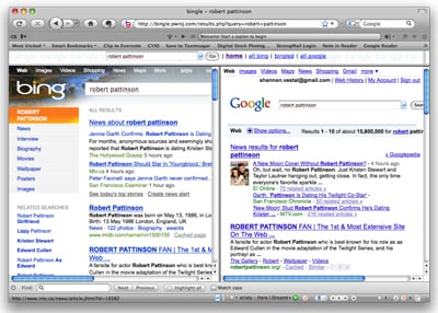 Website Bingle Gives You Side-by-Side Results From Google and Bing Searches
