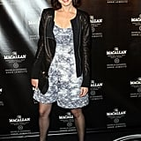 Alexis Bledel wore a black jacket and a dress to The Macallan Masters of Photography Series Launch in NYC.