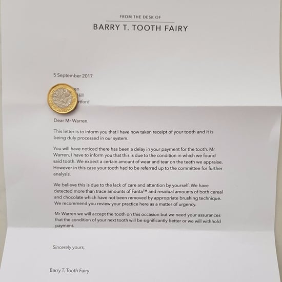 Funny Letter From Tooth Fairy About Brushing Teeth