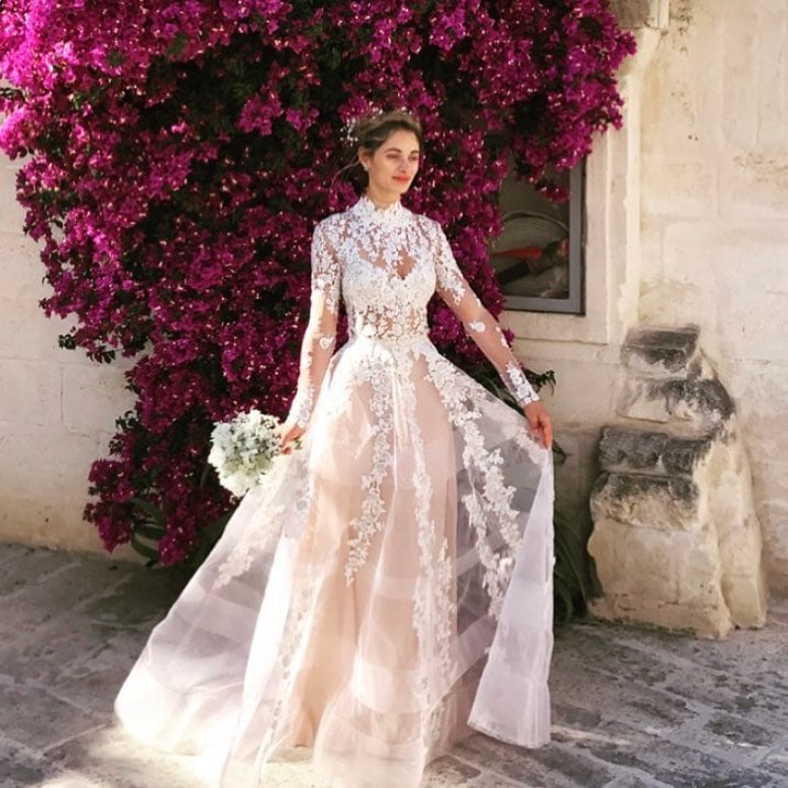 Sheer wedding dresses popsugar fashion junglespirit Gallery