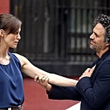 Keira Knightley and Mark Ruffalo worked on a scene together in NYC.