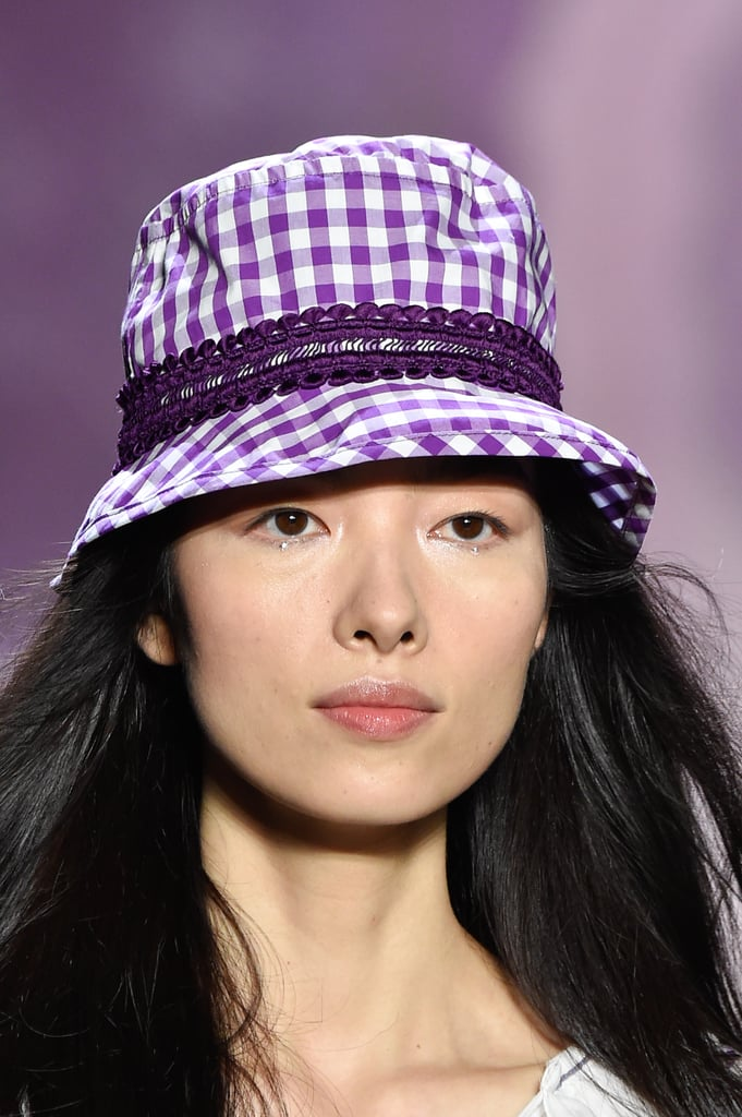 A Hat on the Anna Sui Runway at New York Fashion Week