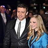 Justin Timberlake and Amanda Seyfried on the red carpet in London.