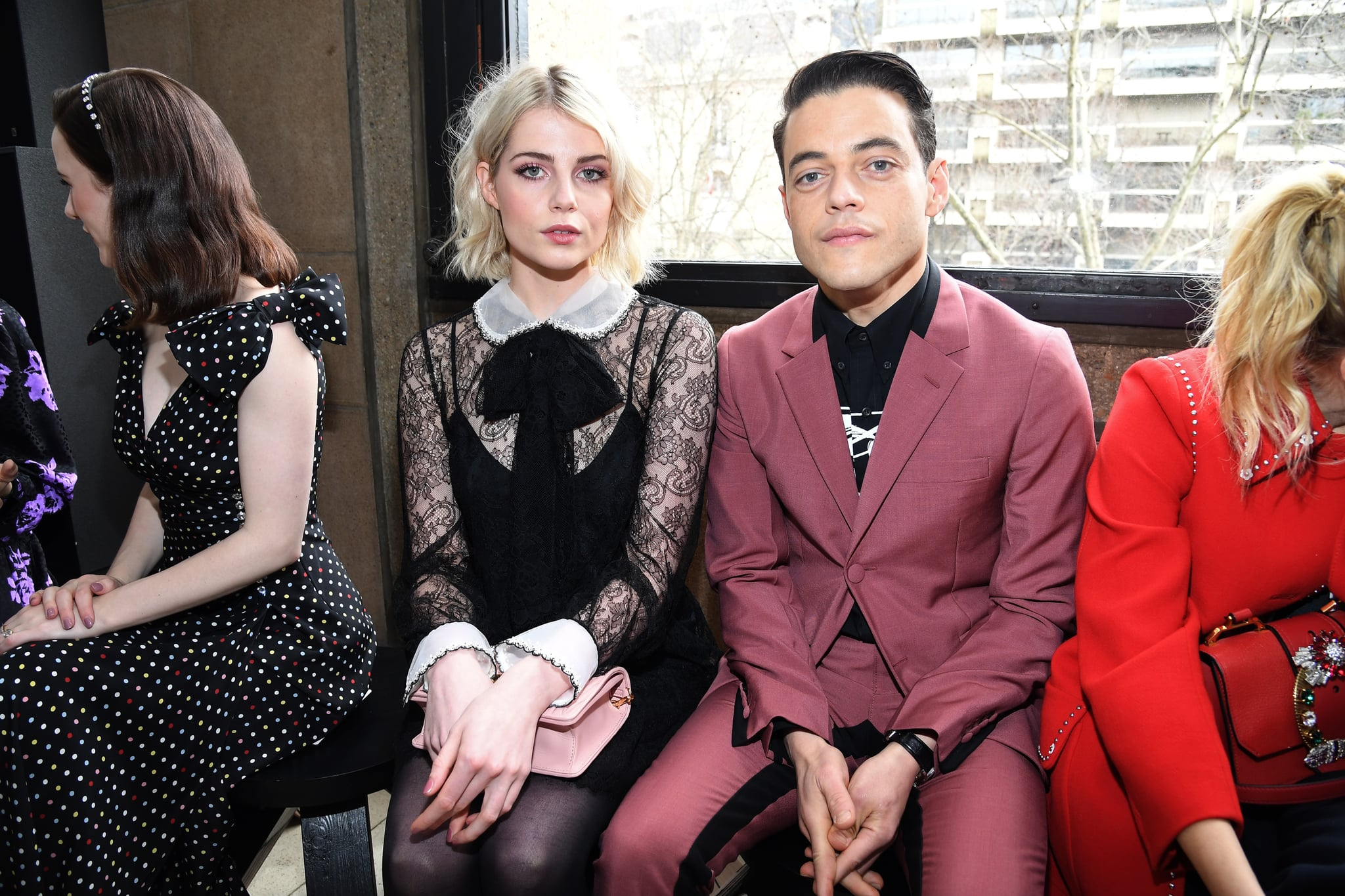 PARIS, FRANCE - MARCH 06:  Rami Malek and Lucy Boynton attend the Miu Miu show as part of the Paris Fashion Week Womenswear Fall/Winter 2018/2019 on March 6, 2018 in Paris, France.  (Photo by Pascal Le Segretain/Getty Images)