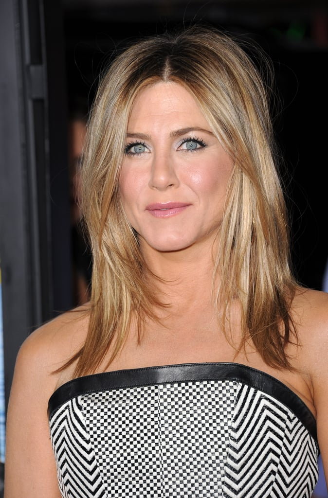 Jennifer Aniston Poses Solo for Wanderlust Premiere in LA