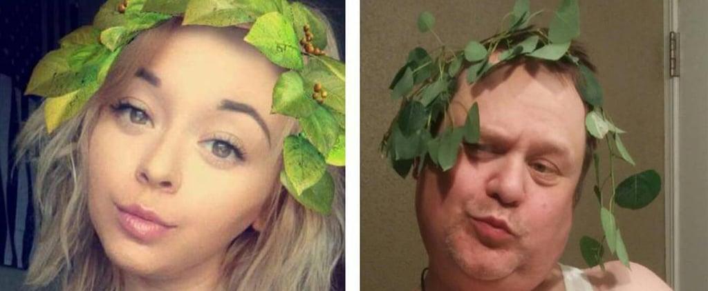 Dad Recreates Daughter's Selfies