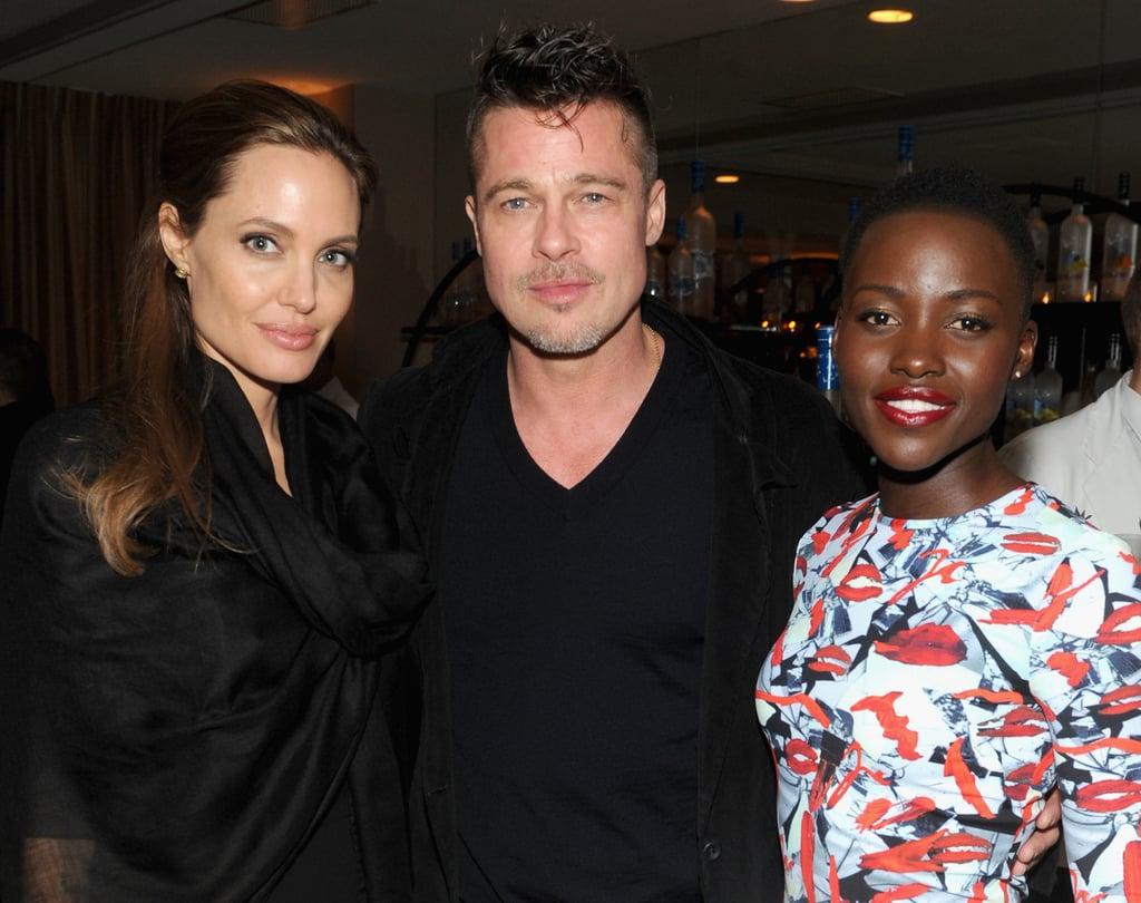 Angelina Jolie and Lupita Nyong'o at Grey Goose's Presentation of 12 Years a Slave