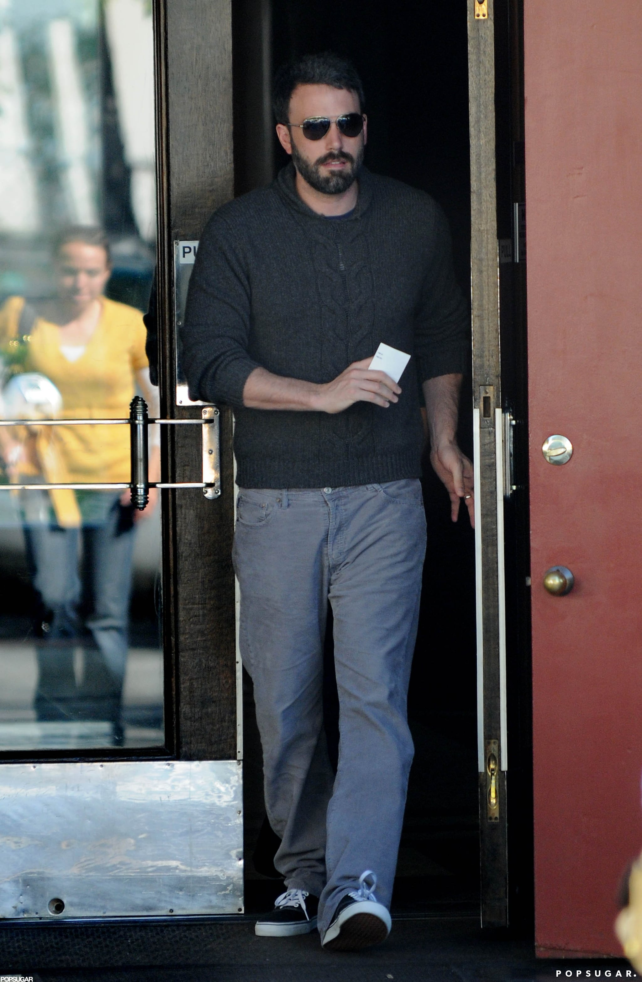 Ben Affleck ran errands with wife Jennifer Garner in LA.