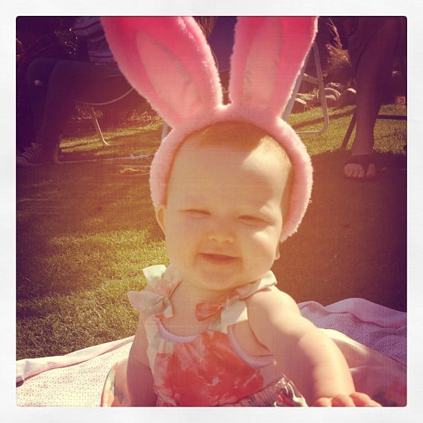 Jessica Alba's daughter Haven donned bunny ears.