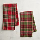 Woven Plaid Tea Towels ($10 for a set of two)