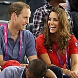 In August 2012, Kate and William watched the paralympics in London.