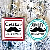 Resin Mustache ID Tag