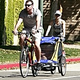 Naomi and Liev Take Their Boys For a Bicycle and Roller Coaster Ride