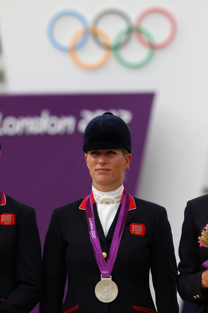 Zara Phillips was emotional during the medal ceremony.