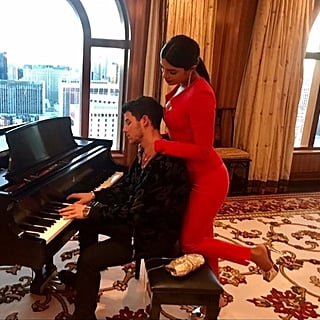 Priyanka Chopra's Red Jumpsuit With Nick Jonas