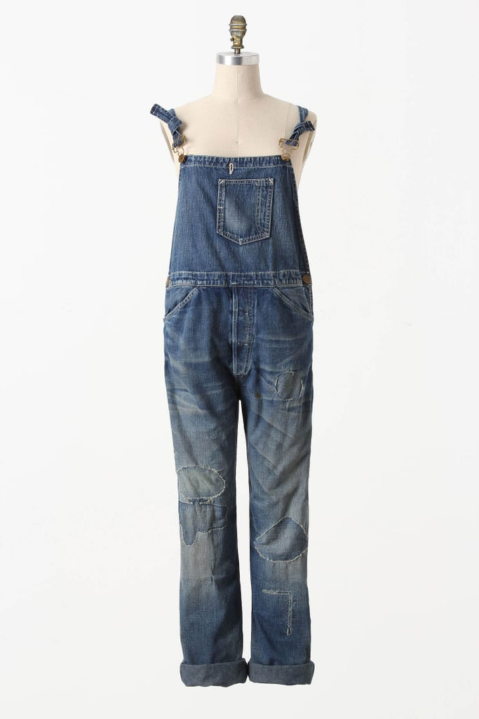 A rugged version that'll look girlie with a floral tank underneath.  Levi's Vintage Collection Destructed Overalls ($350)