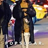 Ariana Grande's Burberry Miniskirt With Graham Phillips