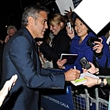 George Clooney at the London Film Festival.