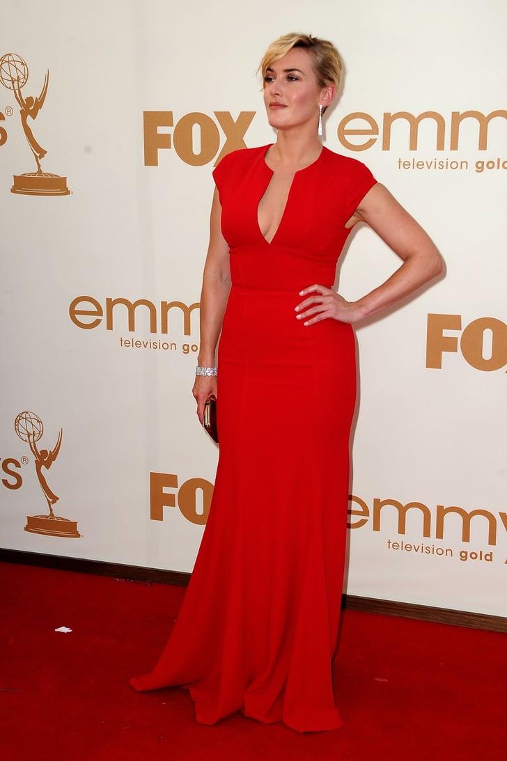 Kate Winslet in red Elie Saab.