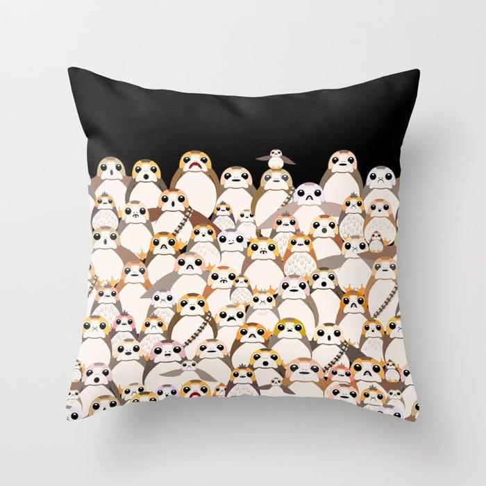 Porg Printed Pillow