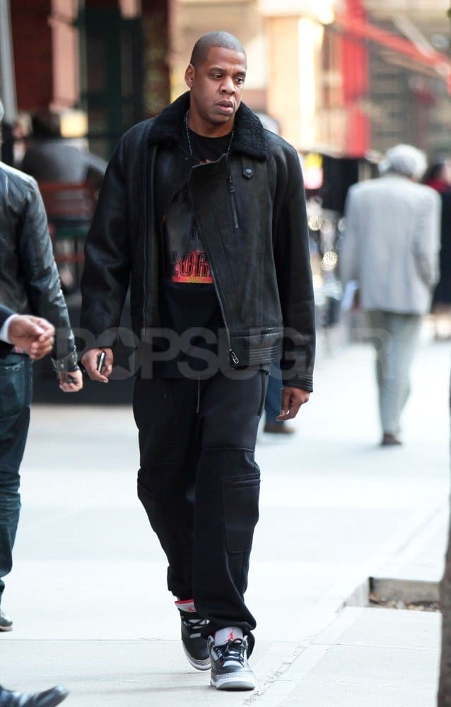 Jay-Z took a walk in NYC.