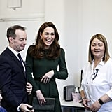 January: Kate visited Family Action to launch the new service FamilyLine.