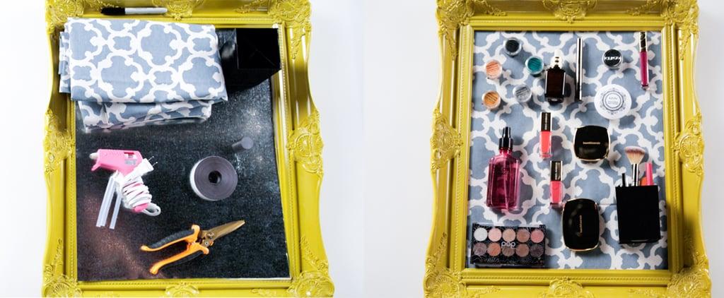 لوح ممغنط منزلي الصنع لتخزين مستحضرات التجميل