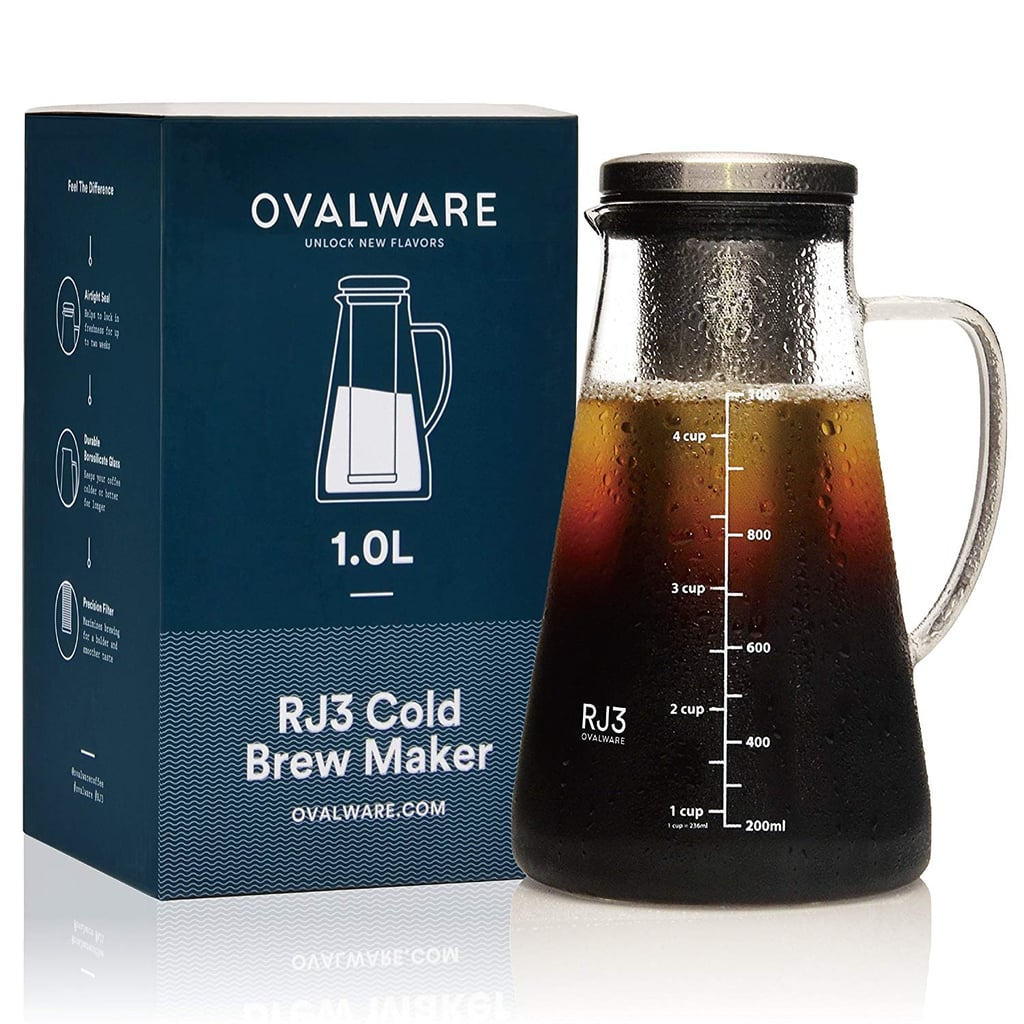 Airtight Cold Brew Iced Coffee Maker and Tea Infuser with Spout