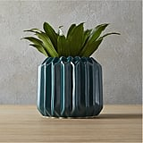 Accordion Teal Planter