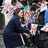 March: Meghan and Harry made an appearance in Birmingham, where Meghan met a little girl who wanted to be an actress like her.