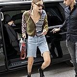 Gigi Hadid Leaving the Max Mara Show