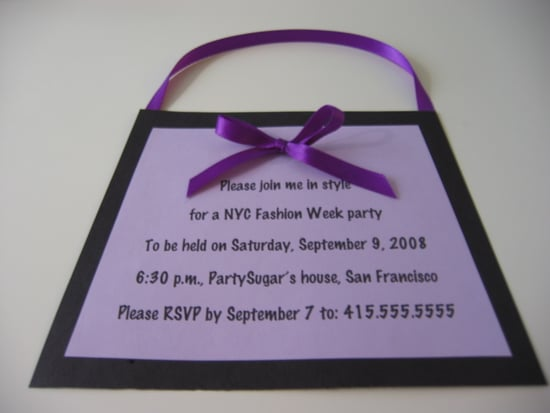 Come Party With Me: Fashion Week Party — Invite