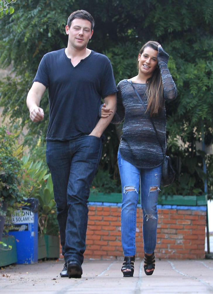 Cory Monteith and Lea Michele did lunch.