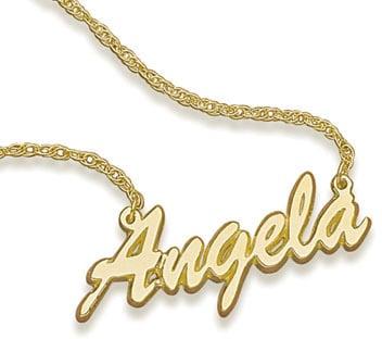 Zales 14K Gold Script Name Necklace 249 Gigi Hadids Kengi