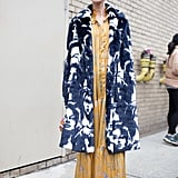 Contrast Colors With a Statement Coat