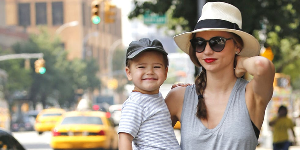 Flynn Works the Cameras With His Model Mom Miranda Kerr