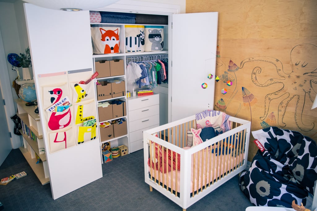 3 Sprouts' wall organizers and storage bins provide organized ways to keep the kids' clutter under control.