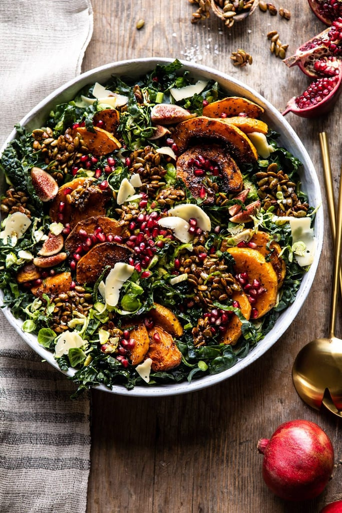 Fall Harvest Roasted Butternut Squash and Pomegranate Salad