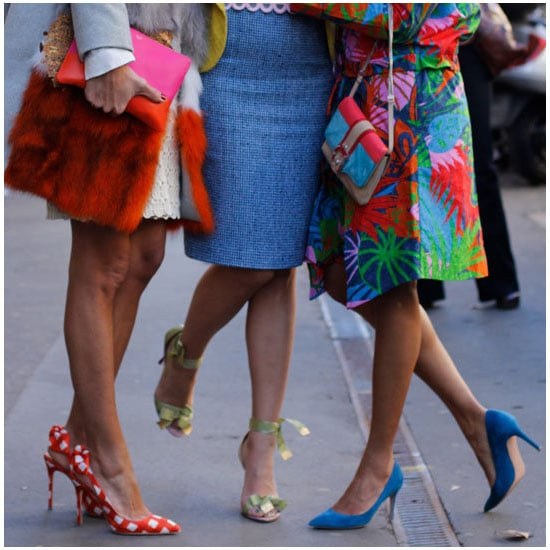 Street Style Snaps from Milan Fashion Week Trend Spotting: Pointy Toed Pumps. Shop the Trend!