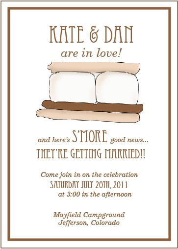 S'more Wedding Invitation