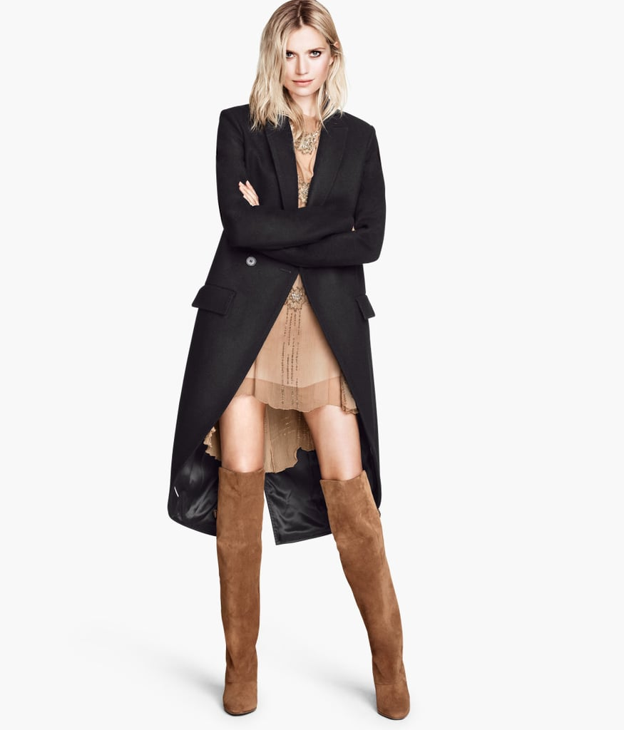 When black double-breasted wool coat ($149), with its rounded tail, cutaway front hem, and high vent in the back, is the perfect way for me to channel my Parisian sensibilities all season long. — Kate Schweitzer, editor