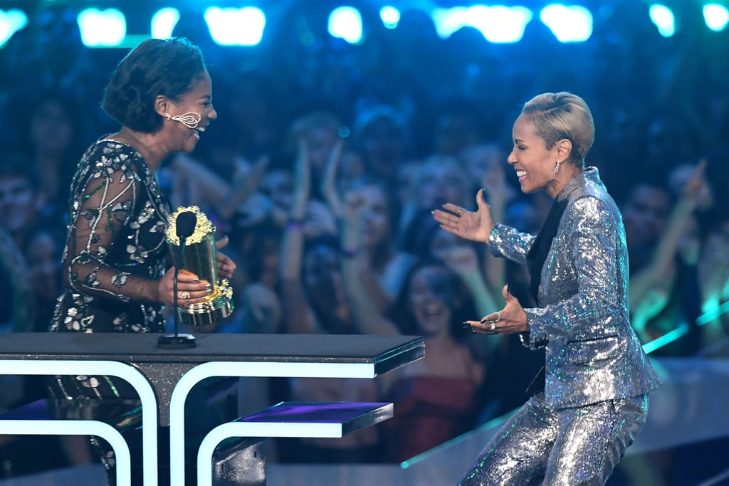 Tiffany Haddish on Stage With Jada Pinkett Smith at the MTV Movie and TV Awards