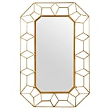 Stone & Beam Diamond Shape Metal Frame Mirror