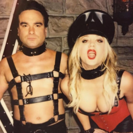 Kaley Cuoco and Johnny Galecki Sexy Big Bang Theory Photo