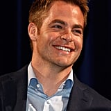 Chris Pine flashed a grin in Cannes.