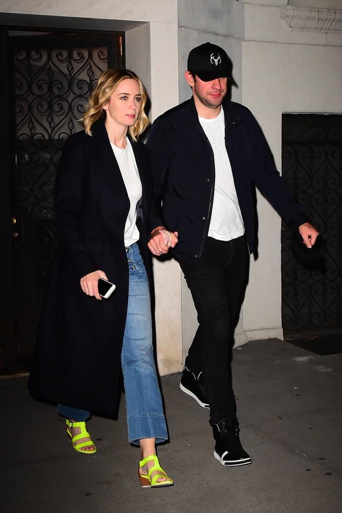John Krasinski and Emily Blunt Out in NYC September 2016   POPSUGAR