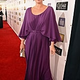Molly Sims stepped out in a purple gown for the Critics' Choice Awards.