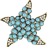 Kenneth Jay Lane Turquoise Starfish Brooch