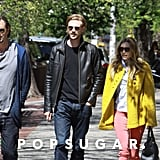 Elizabeth Olsen and Boyd Holbrook were accompanied by a friend in NYC.